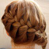 Плетение волос косой. Французская коса.