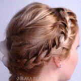 Косы на короткие волосы фото