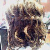 Коса водопад на короткие волосы